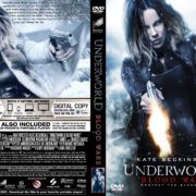 Underworld Blood Wars (2016) R0 Custom DVD Cover