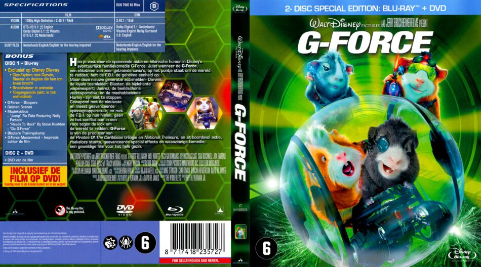 G Force Blu Ray Cover 2009 R2 Dutch