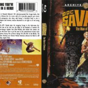 Doc Savage: The Man of Bronze (1975) R1 Blu-Ray Cover & Label