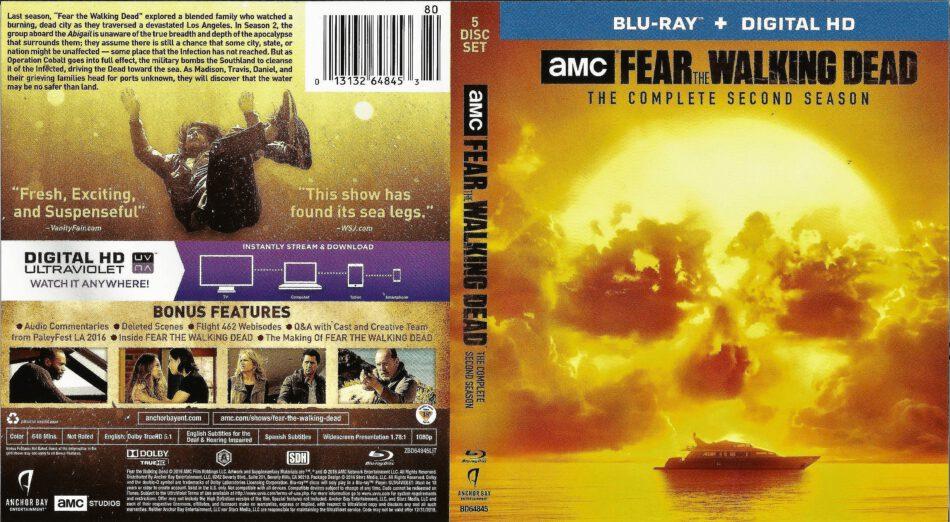 Fear The Walking Dead Season 2 Blu Ray Cover Labels 2016 R1