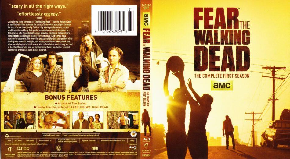Fear The Walking Dead Season 1 2 Blu Ray Covers Labels