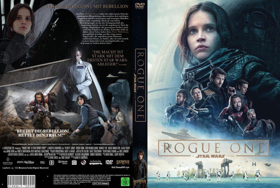 Rogue One A Star Wars Story Dvd Cover 2016 R2 German Custom