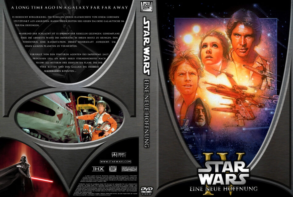 Star Wars Episode Iv Eine Neue Hoffnung Dvd Cover 1977 R2 German Custom