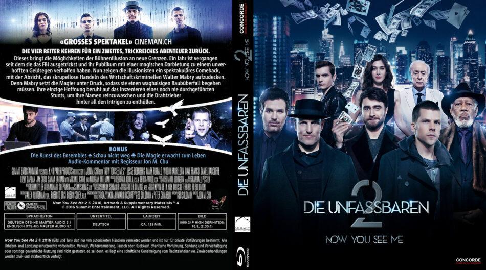 Die Unfassbaren 2 Now You See Me Blu Ray Cover Labels 2016 R2 German Custom