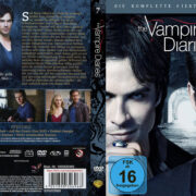 The Vampire Diaries Staffel 7 (2016) R2 German Custom Cover & labels