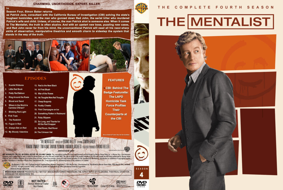 The Mentalist - Season 4 dvd cover (part of a spanning