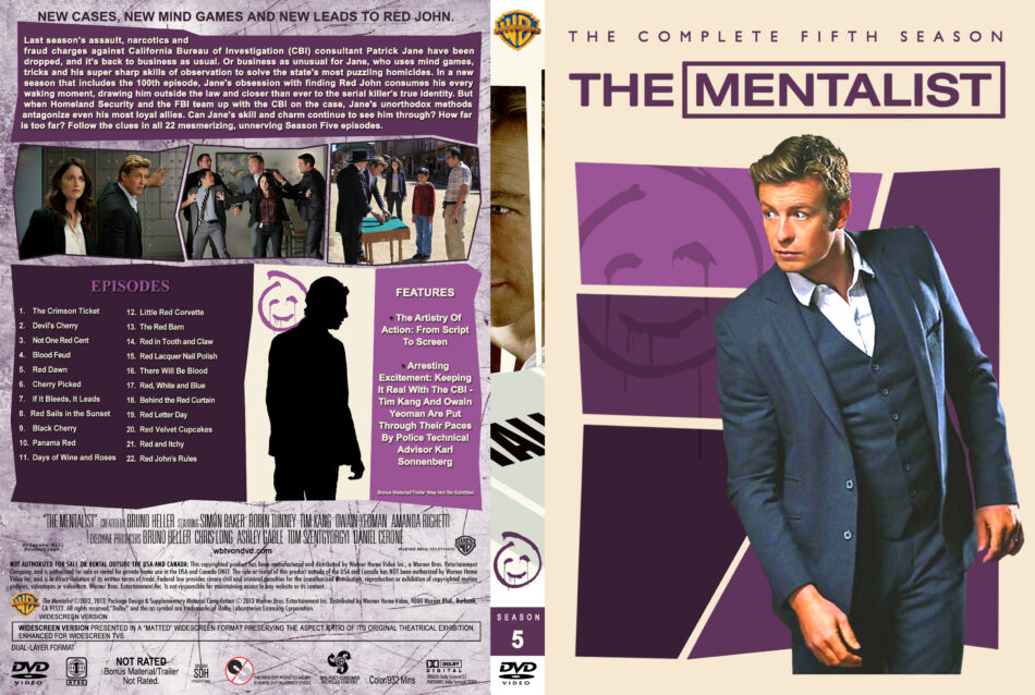 The Mentalist - Season 5 dvd cover (part of a spanning