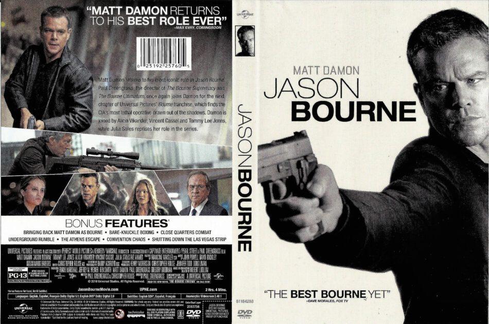 Jason Bourne Dvd Cover 2016 R1