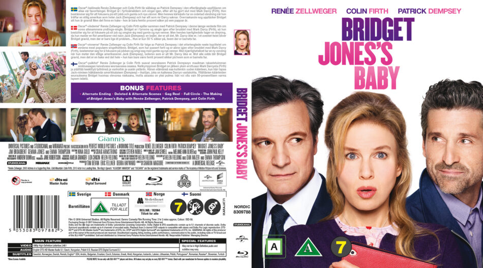 Bridget Jones S Baby Blu Ray Cover 2016 R2 Nordic