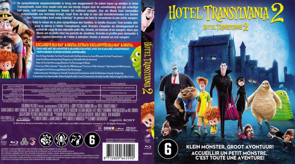 Hotel Transylvania 2 Blu Ray Cover 2015 R2 Dutch