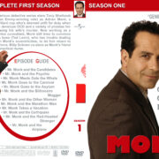 Monk - Season 1 (part of a spanning spine set) (2002) R1 Custom Cover