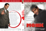 Monk – Season 2 (part of a spanning spine set) (2003) R1 Custom Cover