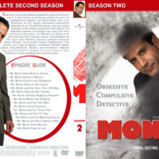 Monk - Season 2 (part of a spanning spine set) (2003) R1 Custom Cover
