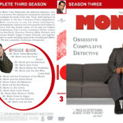 Monk – Season 3 (part of a spanning spine set) (2004) R1 Custom Cover
