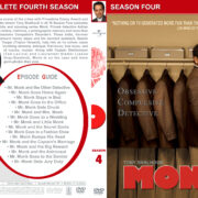 Monk – Season 4 (part of a spanning spine set) (2005) R1 Custom Cover