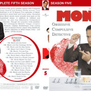 Monk – Season 5 (part of a spanning spine set) (2006) R1 Custom Cover