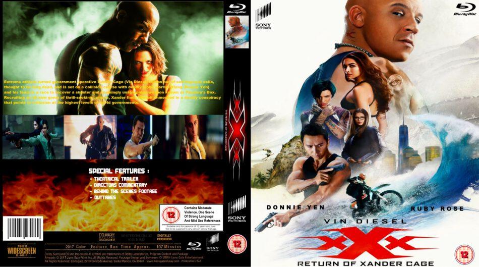 Xxx Return Of Xander Cage Blu Ray Cover 2017 R2 Custom