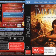 Immortals 3D (2011) R4 Blu-Ray Cover & Labels