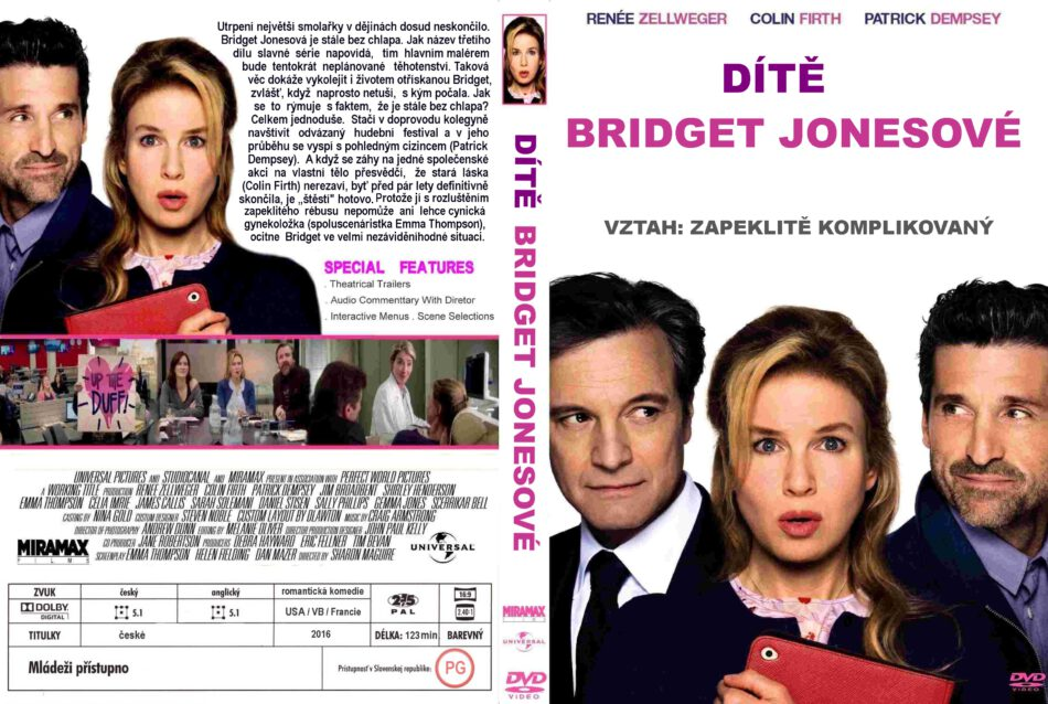 Bridget Jones S Baby Dvd Cover 2016 R2 Custom Czech