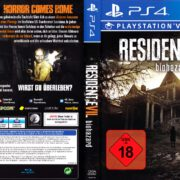 Resident Evil 7 Biohazard (2017) German PS4 Cover & Label