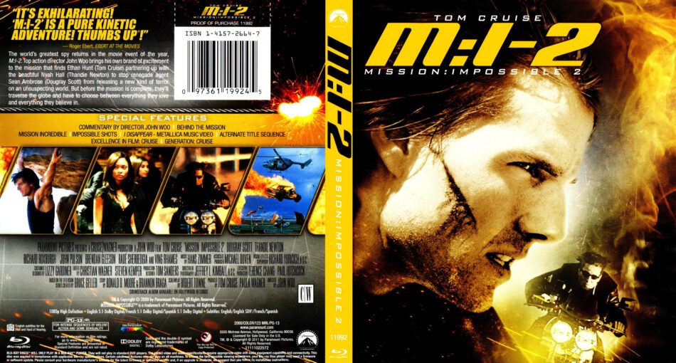 Mission Impossible Ii Blu Ray Cover 2000 R1