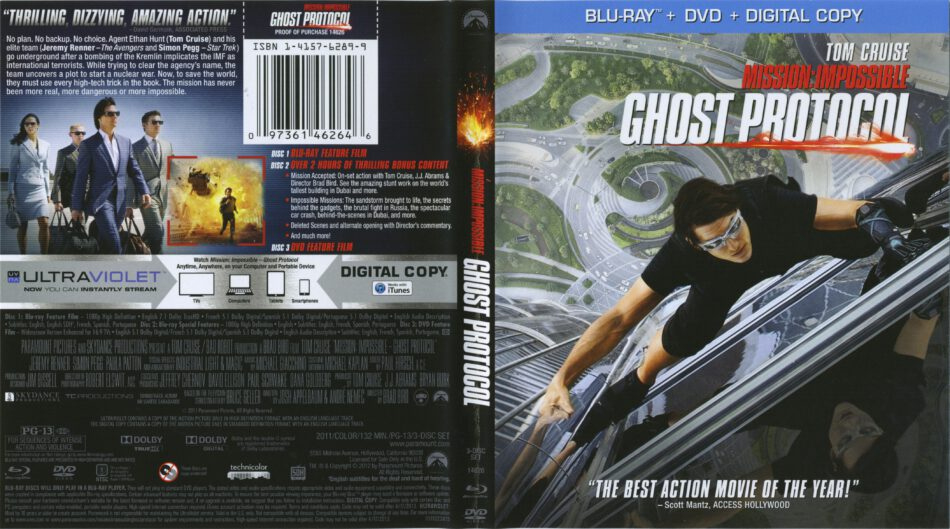 Mission Impossible Ghost Protocol Blu Ray Cover 2011 R1