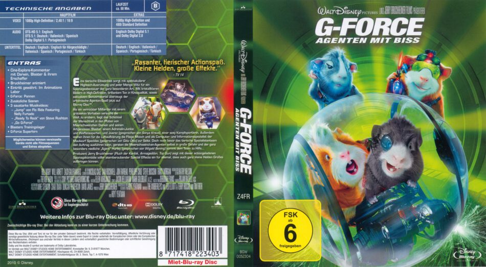 G Force Agenten Mit Biss Blu Ray Cover Label 2009 R2 German