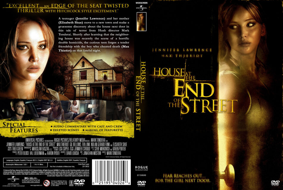 House at the End of the Street dvd cover (2012) R2 GERMAN
