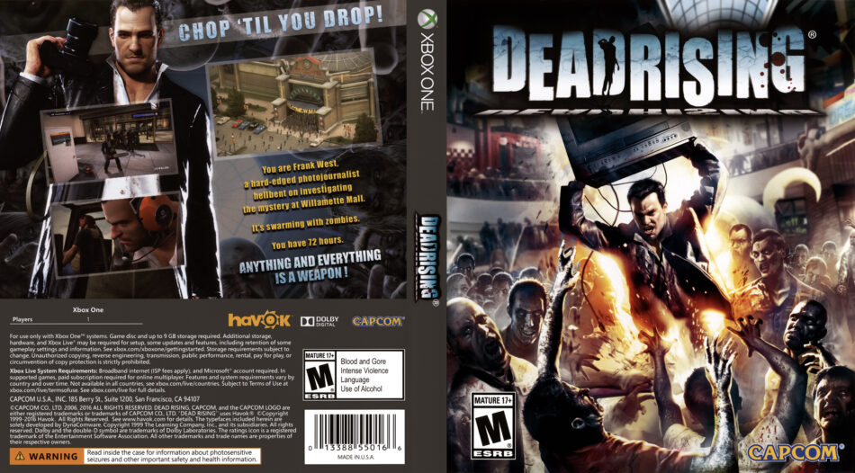 Dead Rising Dvd Cover 2016 Usa Xbox One