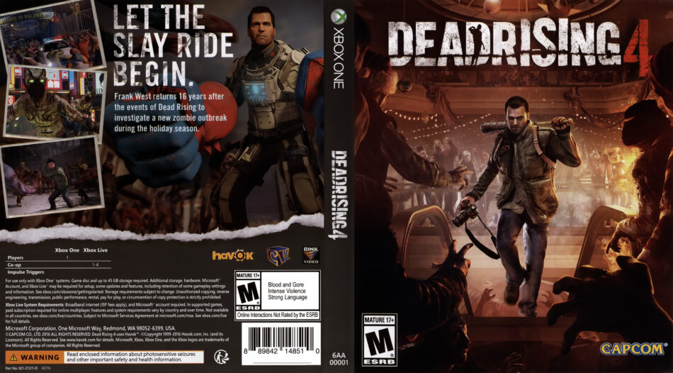 Dead Rising 4 Dvd Cover 2016 Usa Xbox One