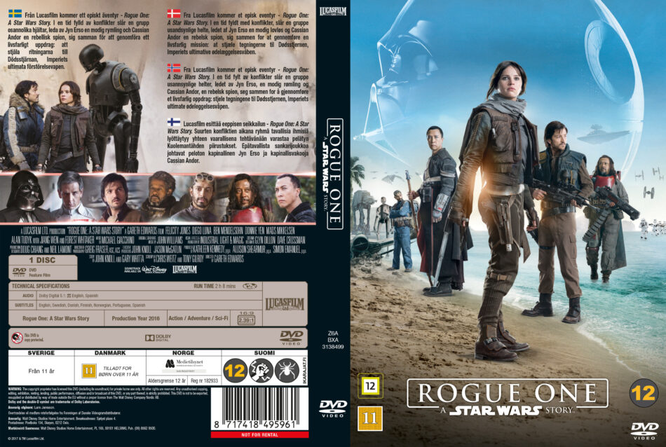 Rogue One A Star Wars Story Dvd Cover 2016 R2 Custom Nordic