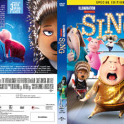 Sing (2016) R2 Swedish Retail DVD Cover + Custom Label