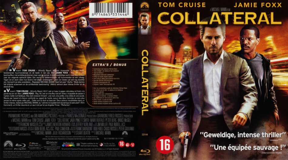 Collateral Blu Ray Cover 2004 R2 Dutch