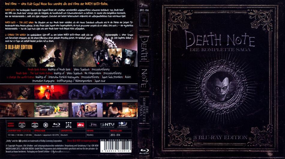 Death Note - Die komplette Saga blu-ray covers (2014) R2 ...