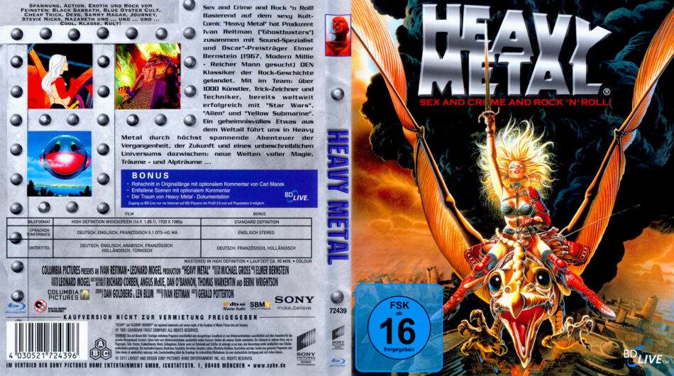 Heavy Metal Blu Ray Cover 1981 R2 German