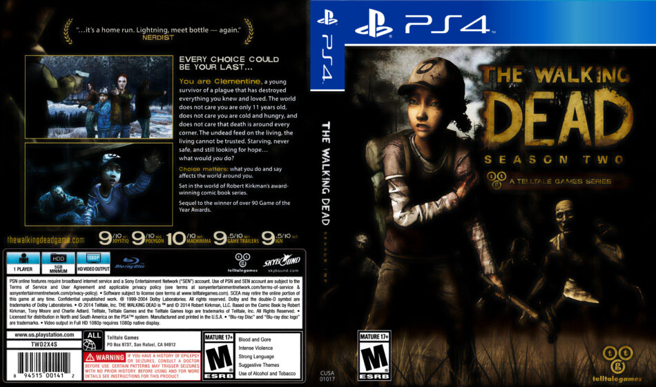 The Walking Dead Episode 2 dvd cover (2014) USA PS4