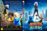 Monsters vs Aliens (2009) R2 GERMAN Custom DVD Cover