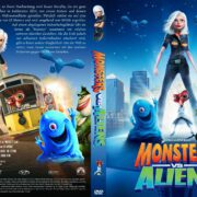 Monsters vs Aliens (2009) R2 GERMAN Custom DVD Cover