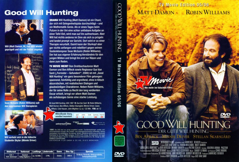 Good Will Hunting Dvd Cover Label 1997 R2 German