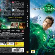 Green Lantern (2011) R2 Nordic Retail DVD Cover + Custom Label
