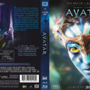 Avatar (2009) R2 Swedish Retail Blu-Ray Cover + Custom Label