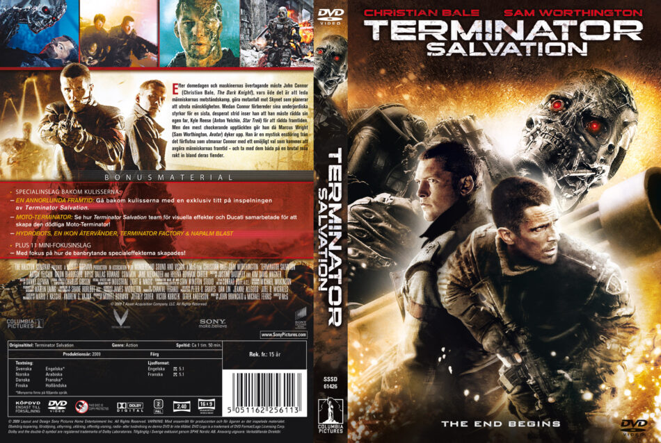 Terminator Salvation Dvd Cover Custom Label 2009 R2 Swedish