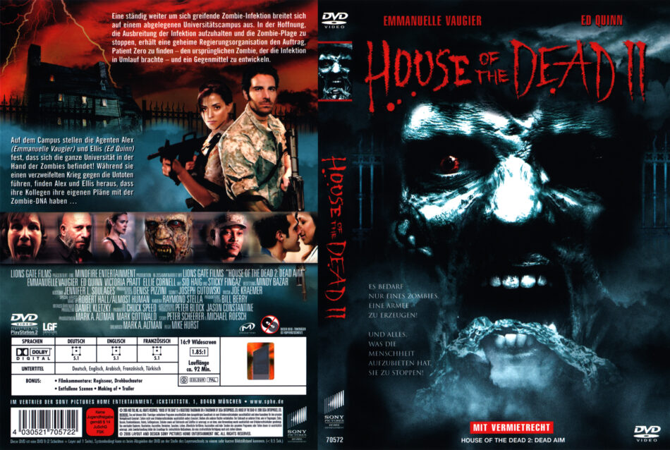 House Of The Dead 2 Dvd Cover 2005 R2 German