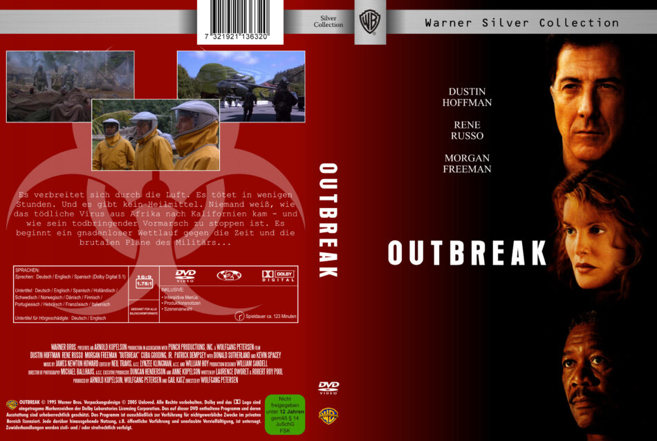 Outbreak Dvd Cover 1995 R2 German Custom