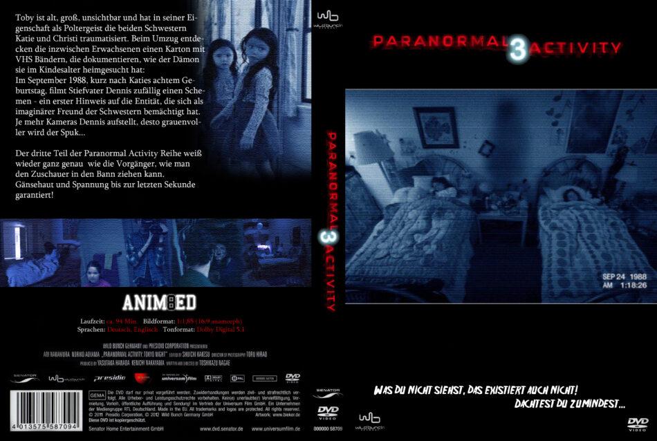 Paranormal Activity 3 Dvd Cover 2011 R2 German Custom