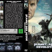 Planet der Affen Revolution (2014) R2 GERMAN Custom DVD Cover