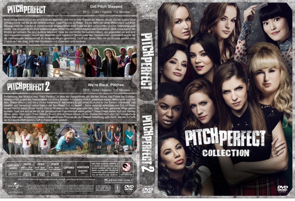 Pitch Perfect 1+2 dvd cover (2012-2015) R2 GERMAN Custom