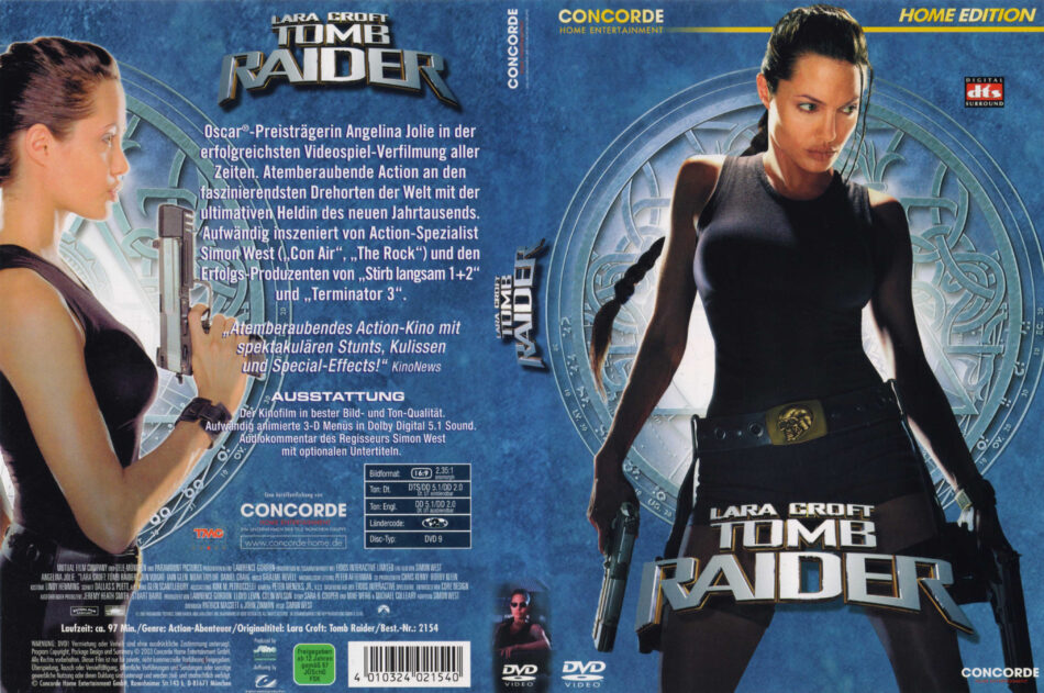 Tomb Raider Dvd Cover Label 2001 R2 German