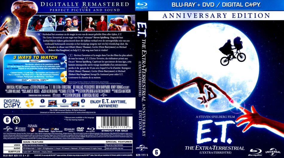 E T The Extra Terrestrial Blu Ray Cover 1982 R2 Dutch