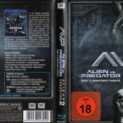 Alien vs Predator 1 & 2 (2009) R2 German Blu-Ray Cover